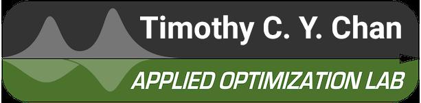 Timothy C. Y. Chan – Applied Optimization Lab